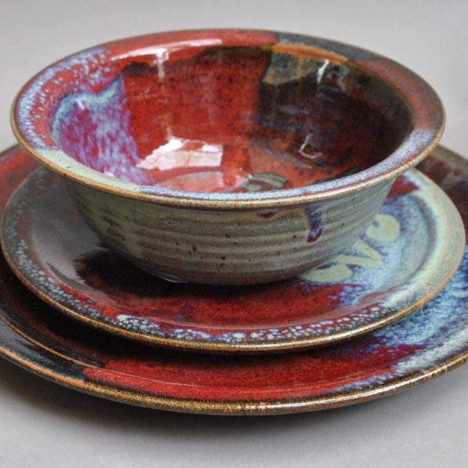 autumn dinner set by blaisdell pottery at worthington gallery