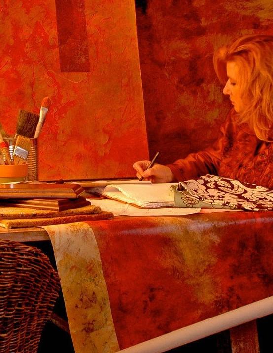 Ann Shogren paintings at the Worthington Gallery